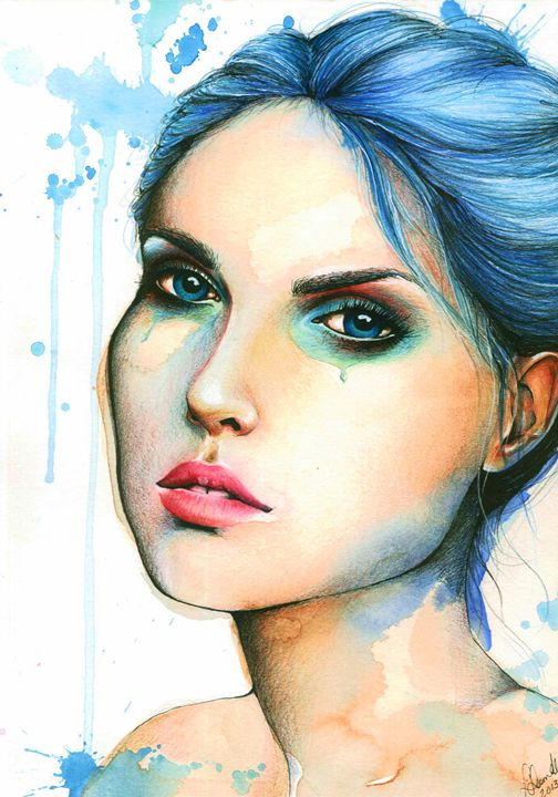 "Watercolor ""Mara"" - Leah Sandberg // Studio330"
