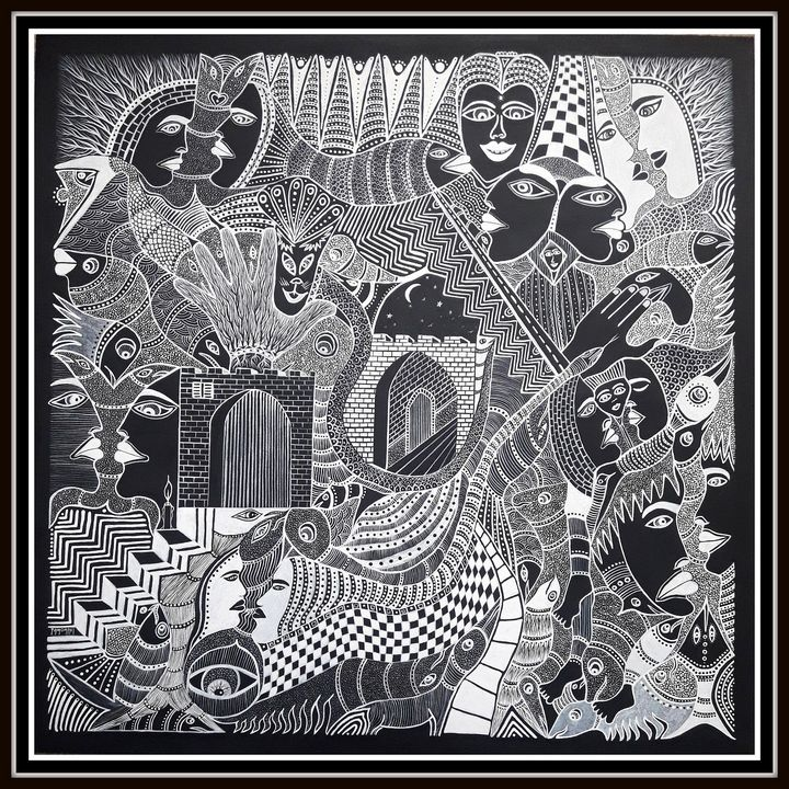 Noir sur Blanc - Art Gallery