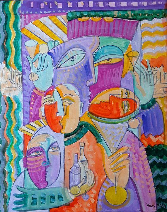 Party - Original art by  Van Hovak