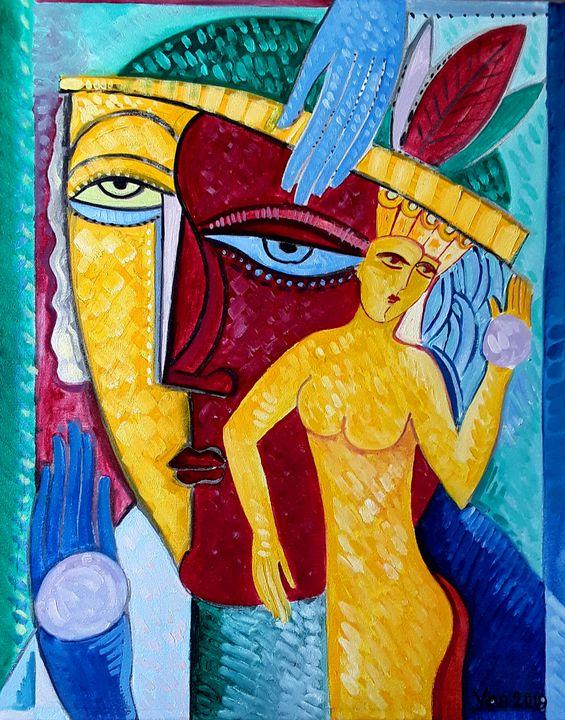 Muse - Original art by  Van Hovak