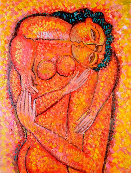 Lovers - Original art by  Van Hovak