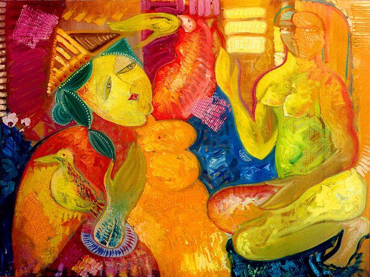 Women's Talk - Original art by  Van Hovak