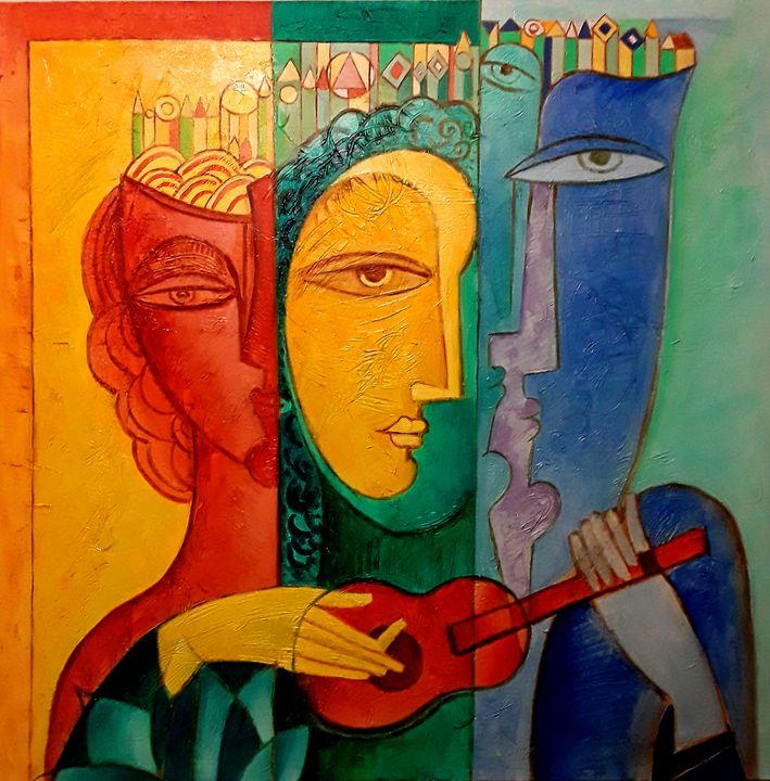 MULTIFACETED PERSONALITY #2 - Original art by  Van Hovak