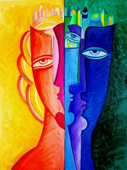 Multiple Personality - Original art by  Van Hovak
