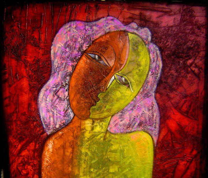 Whimsical Girl - Original art by  Van Hovak