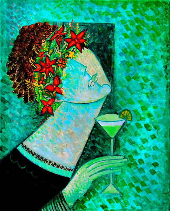 Cocktail - Original art by  Van Hovak