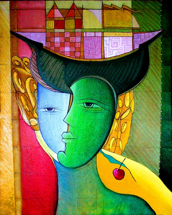 Inner Traveler - Original art by  Van Hovak