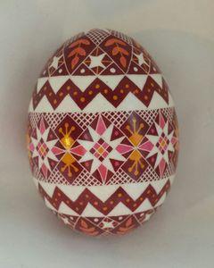 Pink & Dark Red Duck Egg
