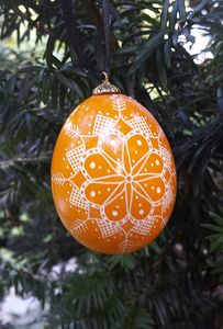 Golden Yellow Snowflake Ornament