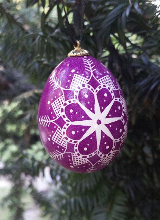 Purple Snowflake Ornament - Pat Burton
