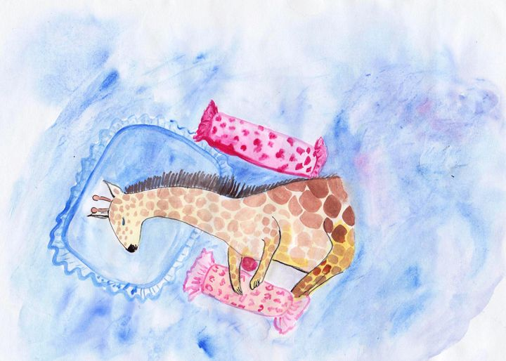 Sleeping Giraffee - Sweeping Girl