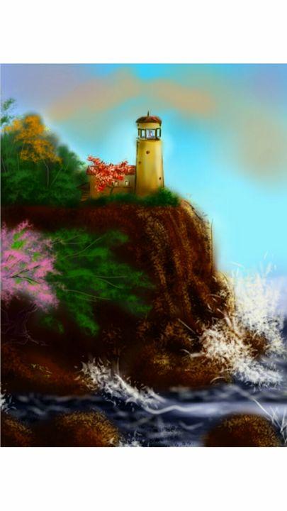 Lighthouse - Artist at work