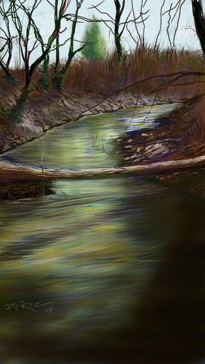 Johnson Creek - Artist at work