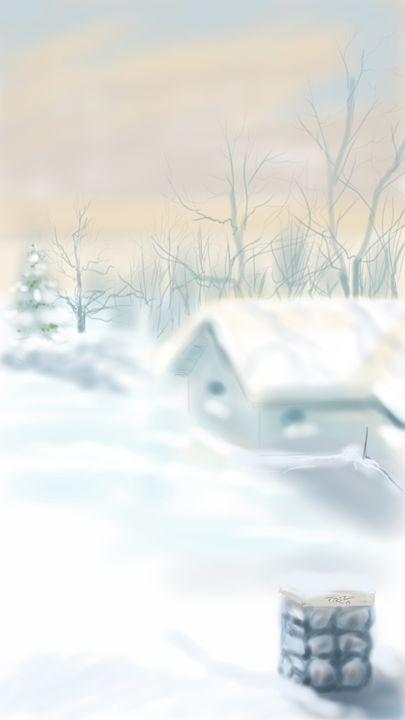 Jersey winter - Artist at work