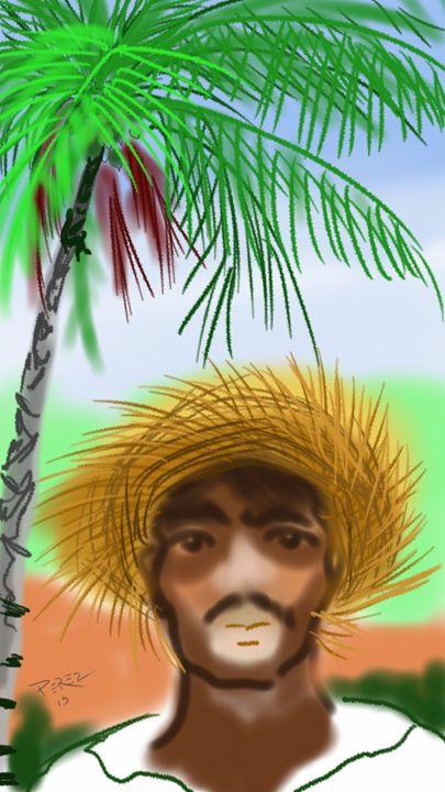 Coconut catcher - Artist at work