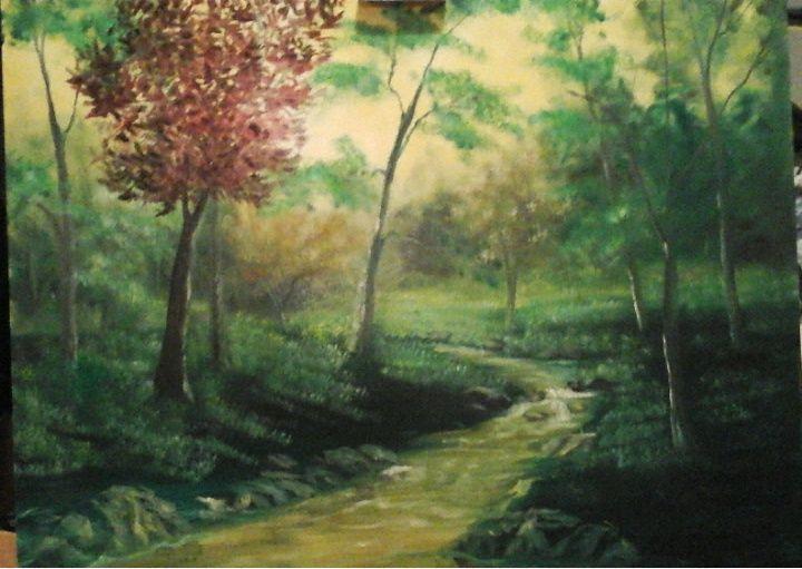 Plum tree - Artist at work
