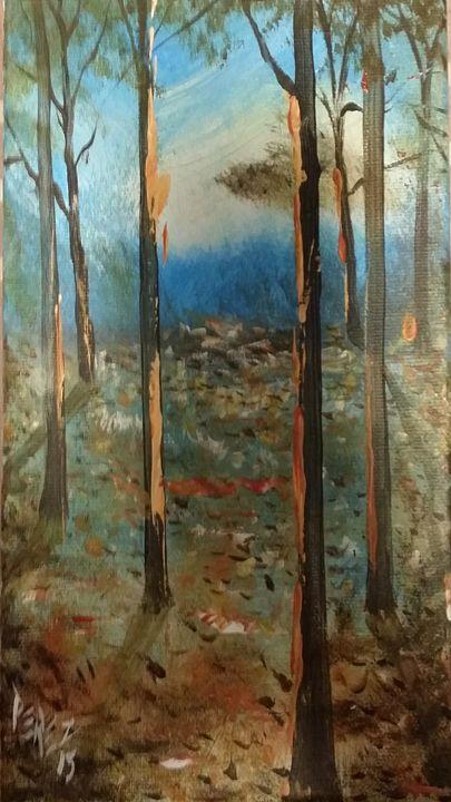 Woods 6 - Artist at work