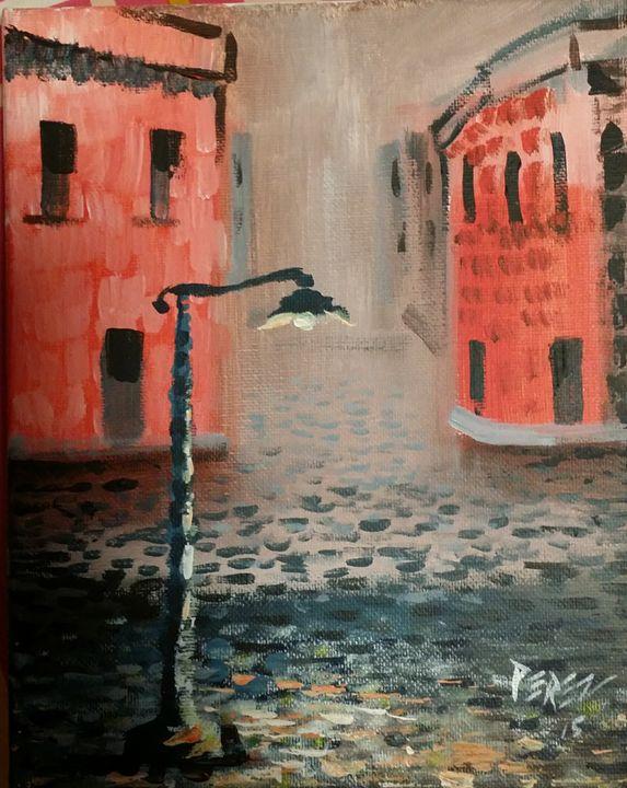 Lampost - Artist at work