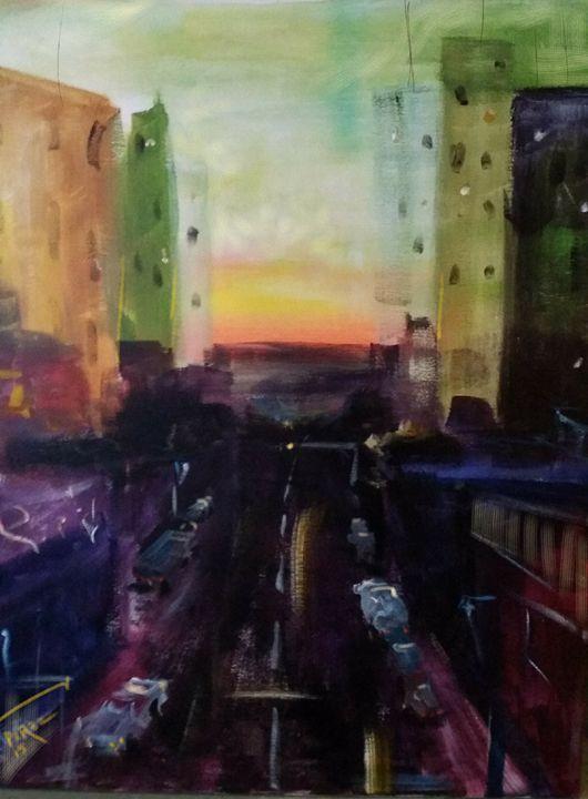 Cityscape 5 - Artist at work