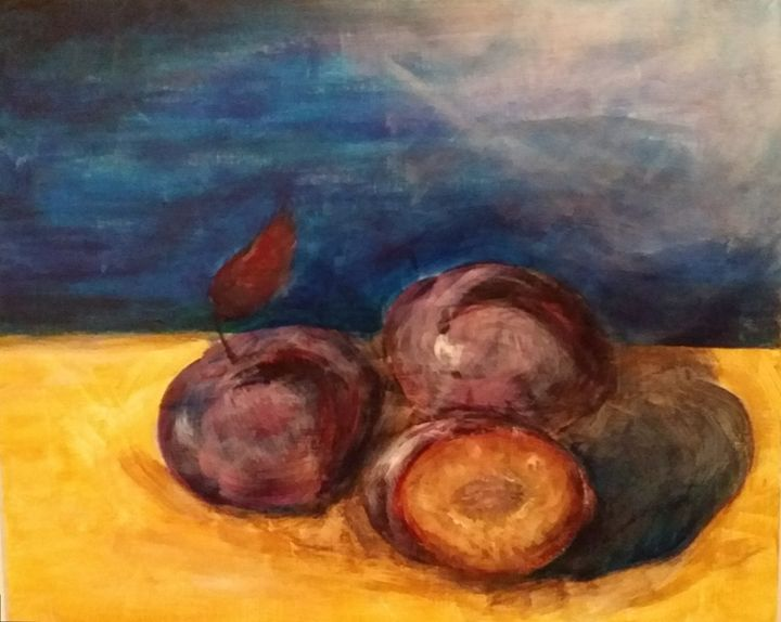 Over ripened plums - Artist at work