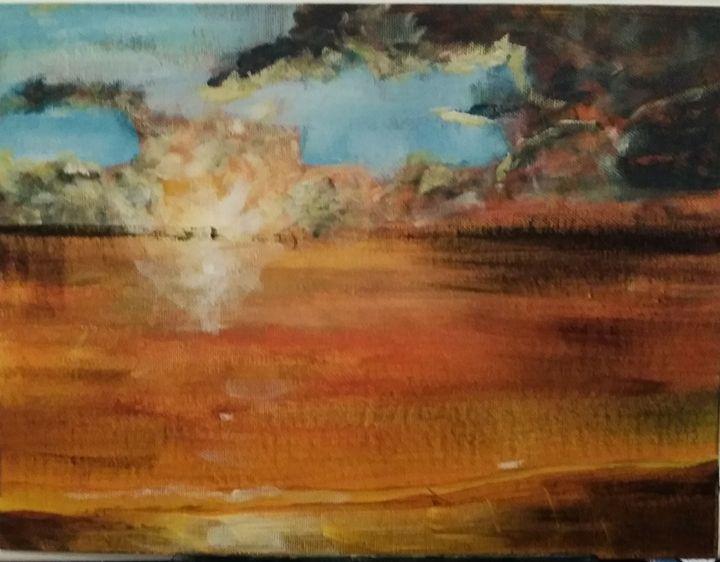 Calm sunset - Artist at work