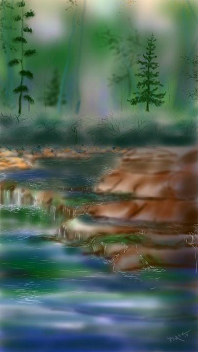 Stone creek - Artist at work