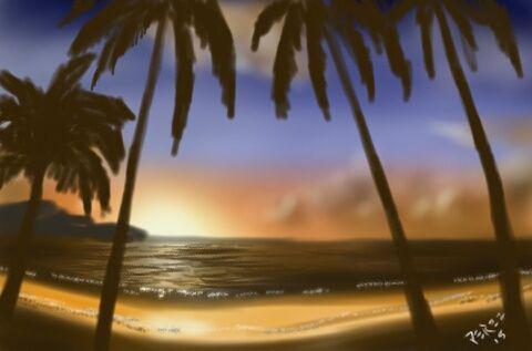 Golden sunset - Artist at work