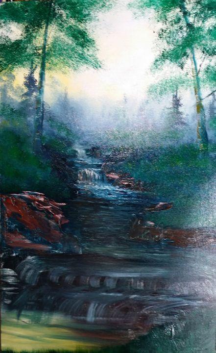 Creek 9 - Artist at work