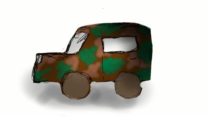 Army truck - Leah's Art