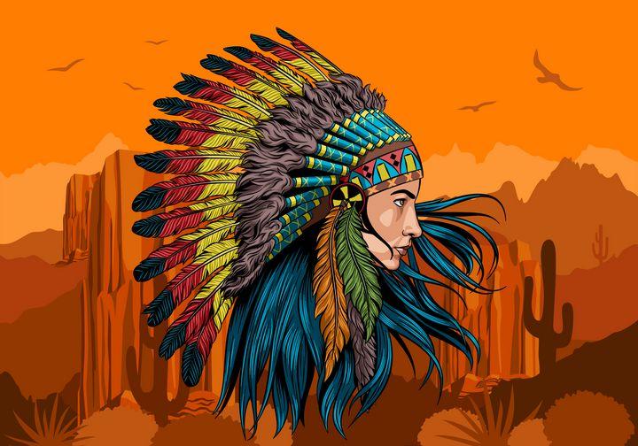 Native american warrior - PCMdesigner
