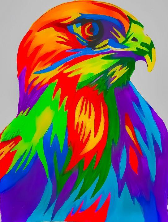 Abstract Hawk - Hajar's art
