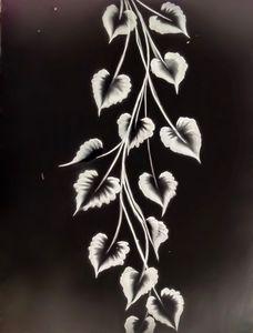 One stroke painting flower