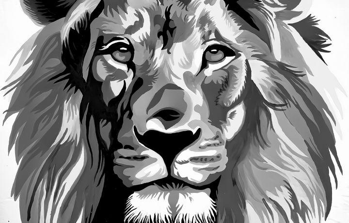 Abstract lion painting - Hajar's art