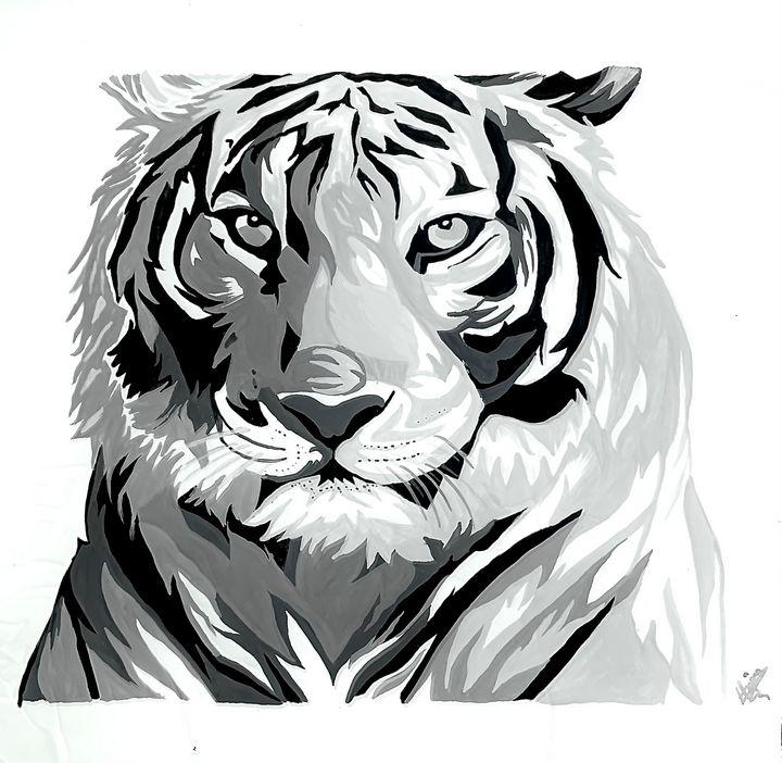 Tiger - Hajar's art