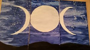 Triple Goddess Nightscape.
