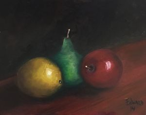 Lemon, pear and apple