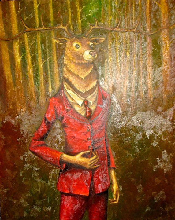 Deer in red velvet - Higgs gallery