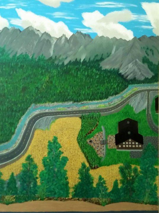 Alps Overlook - JG Art