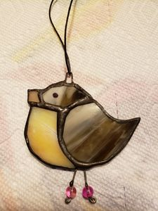 Stained Glass Bird Ornament - Barbs Designs