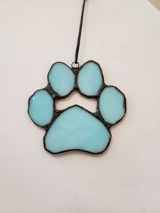 Stained Glass Dog paw ornament - Barbs Designs