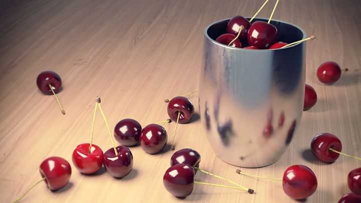 Still Life Cherries 3D - MeshGrab