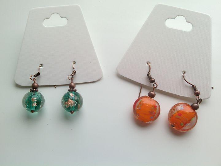 Handmade Lampwork (Murano) earrings - www.handmade-jewelries.eu