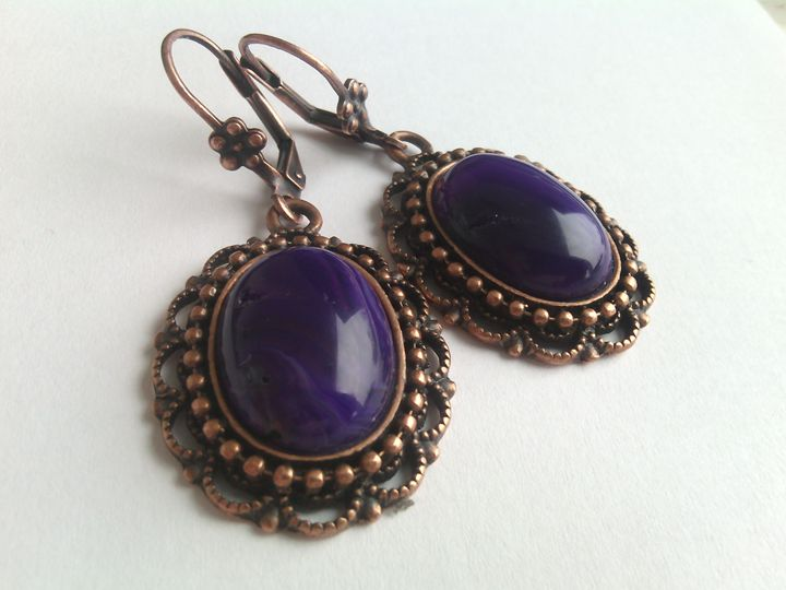 Handmade Agate Earrings - www.handmade-jewelries.eu