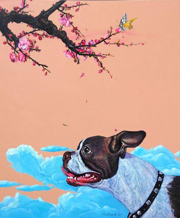 Peach-Flowers - Leona Craig art gallery