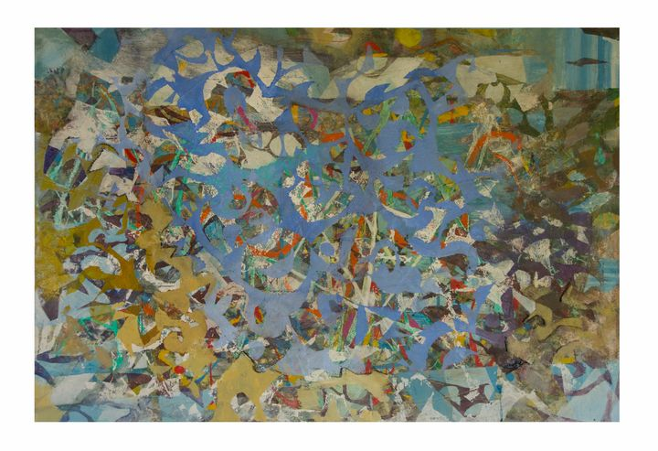 Sea Bed - sally bar paintings
