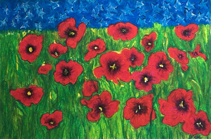 Poppies On Veterans Day Tom Carlson Paintings Prints