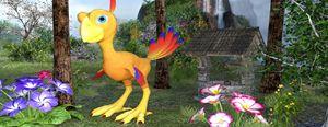 oiseau dans la cour arrière - digital art