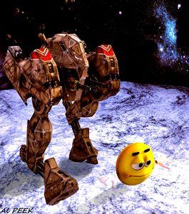 Roboter und Freund - Art by Al Peek
