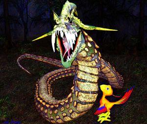 Dragon in Forest - digital art