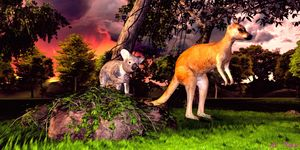 Australian Animals - Art by Al Peek